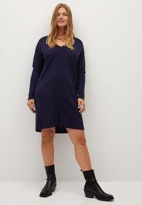 Violeta by Mango - AGORA - Jumper dress - dunkles marineblau - 1