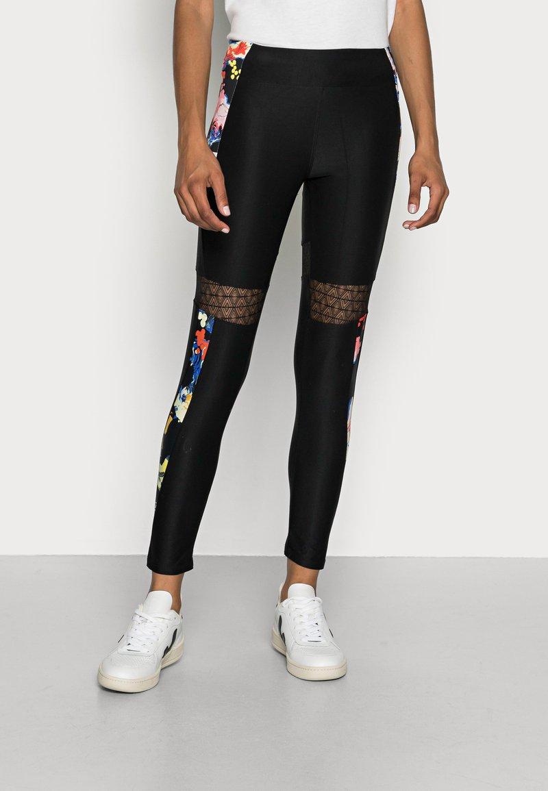 Desigual - CALIX BY CHRISTIAN LAXROIE - Leggings - Trousers - black