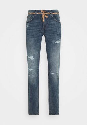 PIERS DESTROYED - Slim fit -farkut - mid stone wash