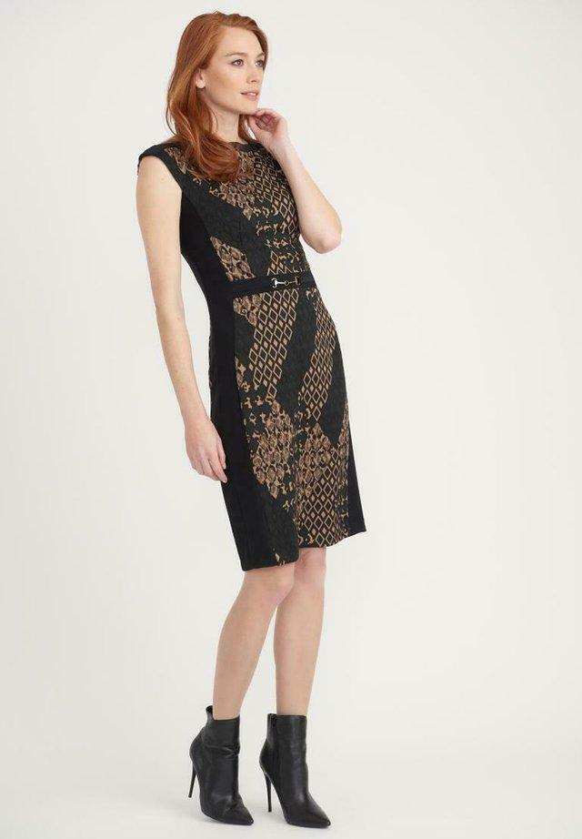 Shift dress - schwarz/braun