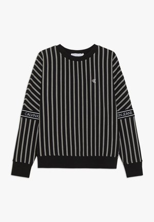 STRIPE LOGO TAPE - Sweatshirt - black