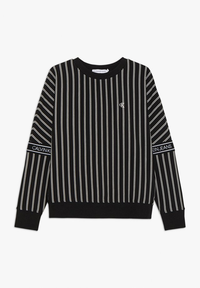 STRIPE LOGO TAPE - Sweatshirt - black