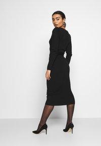 Missguided Petite - MILKMAID BELTED MIDI DRESS - Jumper dress - black - 2