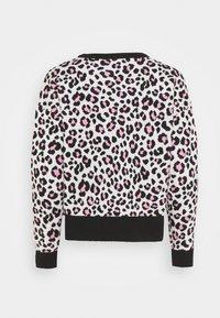 DKNY - LEOPARD CREWNECK  - Jumper - ivory black pink icing - 7