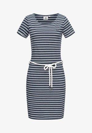 Shift dress - stone-blue denim