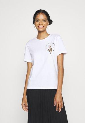 ONLKITA LIFE  - Print T-shirt - bright white