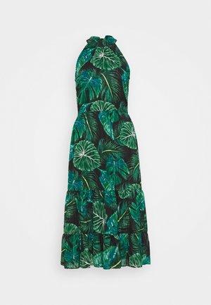 TROPICAL HALTER MIDAXI - Denní šaty - black