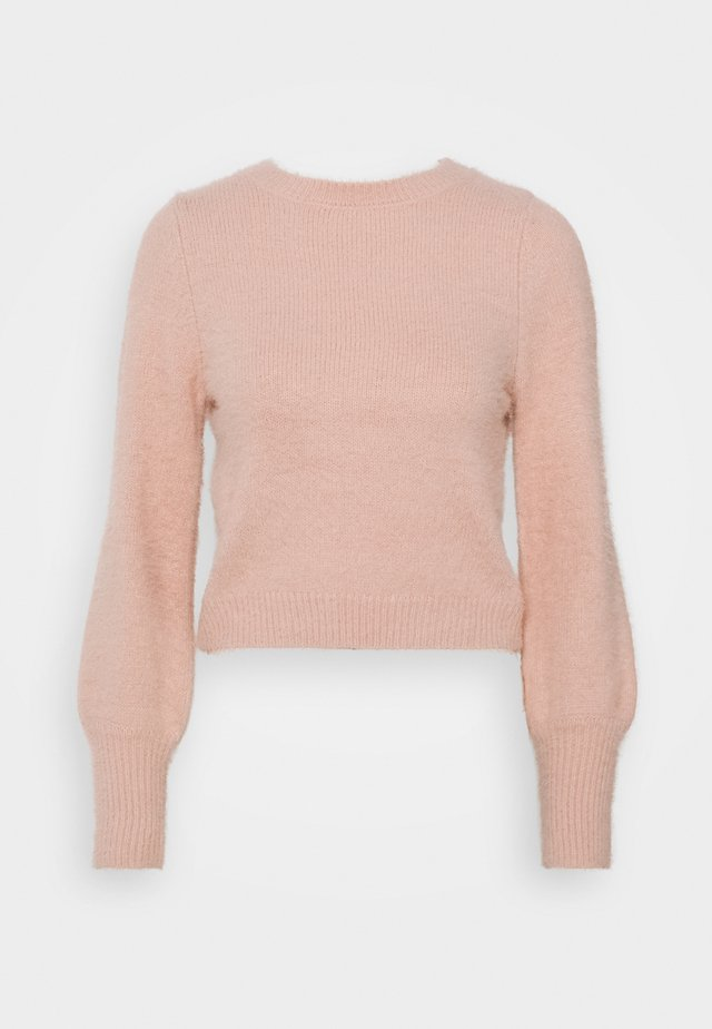 EYELASH BACK DETAIL JUMPER - Neule - blush