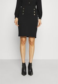 Anna Field - Mini punto smart comfy skirt - Pencil skirt - black - 0