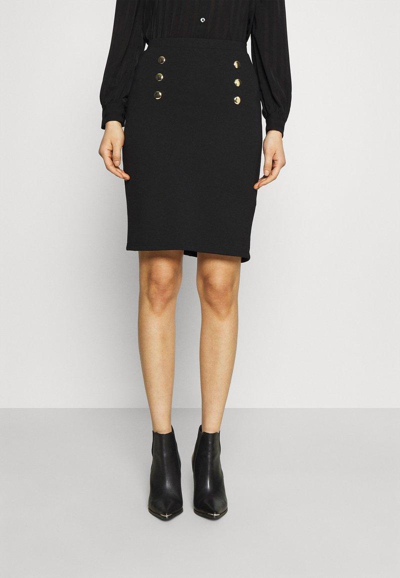 Anna Field - Mini punto smart comfy skirt - Pencil skirt - black