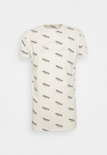 REPEAT BOX TEE - Print T-shirt - off-white