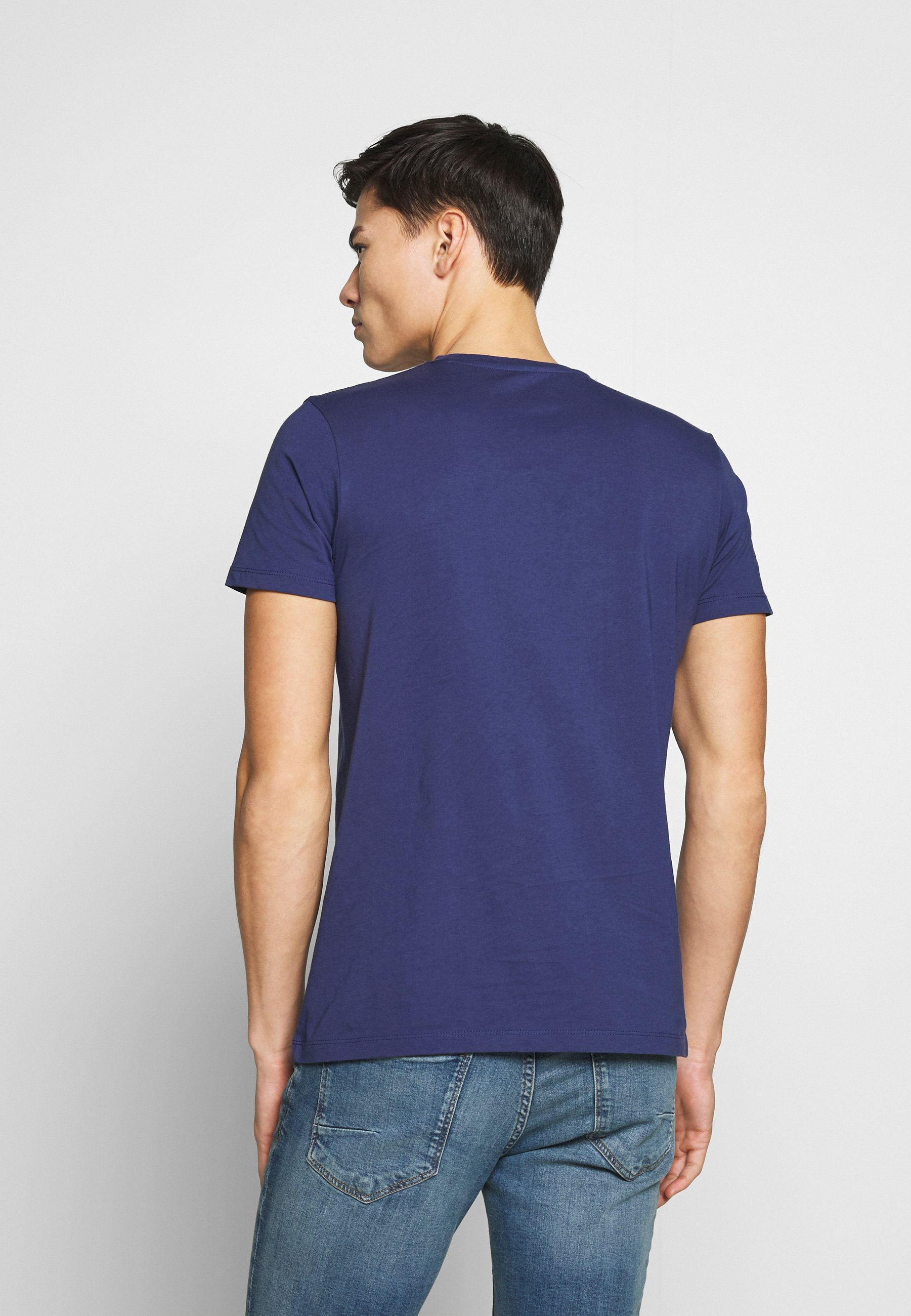 Esprit Logo - T-shirts Med Print Dark Blue/mørkeblå