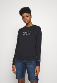 Tommy Jeans - ESSENTIAL LOGO - Sweater - black - 0