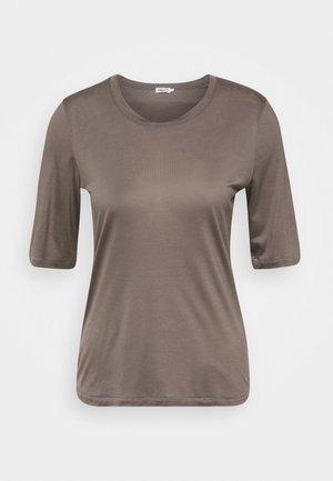 ELENA TEE - Jednoduché triko - dark taupe