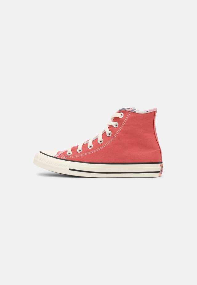 CHUCK TAYLOR ALL STAR SUMMER FEST PATCH - Sneakers hoog - terracotta pink/egret/black