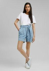 Esprit - Denim shorts - blue light washed - 1