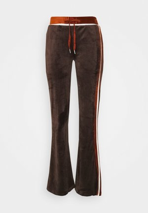 TRACKSUIT BOTTOMS NEW YORKER FONT - Tracksuit bottoms - brown