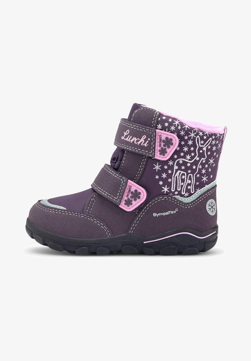 Lurchi - KINA-SYMPATEX - Touch-strap shoes - dunkellila