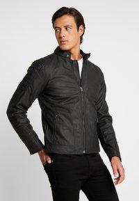 INDICODE JEANS - CHENIES - Faux leather jacket - black - 4