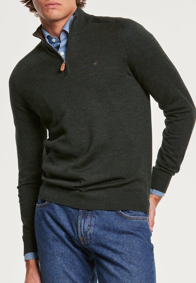 JOHN  - Stickad tröja - olive