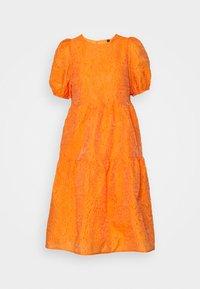 YAS - YASSOLERO HI LOW DRESS - Vardagsklänning - orange peel - 5