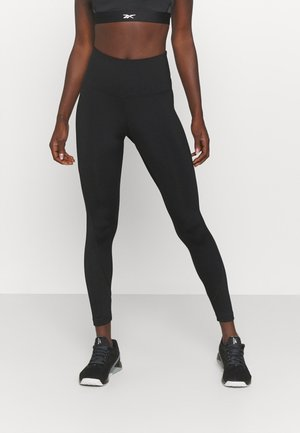 RIBBED HIGH WAISTED WORKOUT READY SPEEDWICK REECYCLED - Trikoot - black