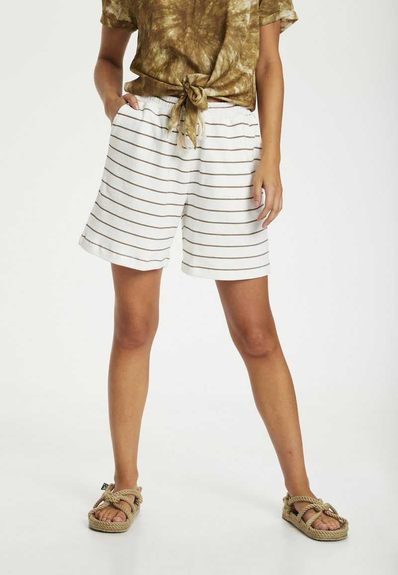 Cream - CRFIA SWEAT - Shorts - timber stripe