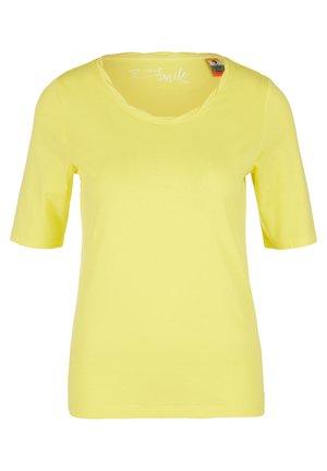 EINFARBIGES  - Basic T-shirt - yellow