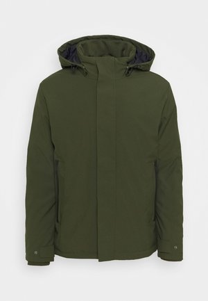 MAN JACKET ZIP HOOD - Talvitakki - oil green
