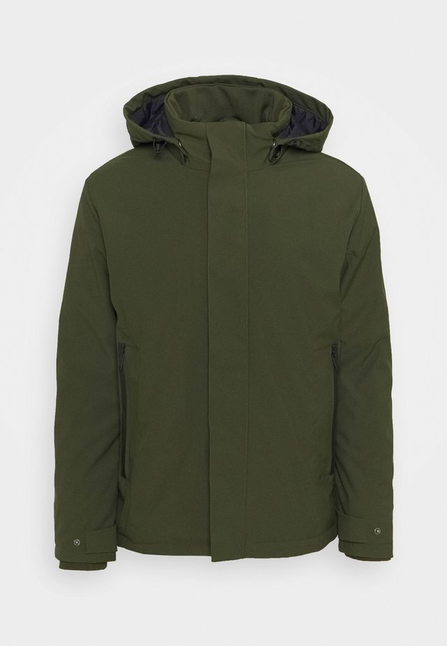 MAN JACKET ZIP HOOD - Winterjas - oil green