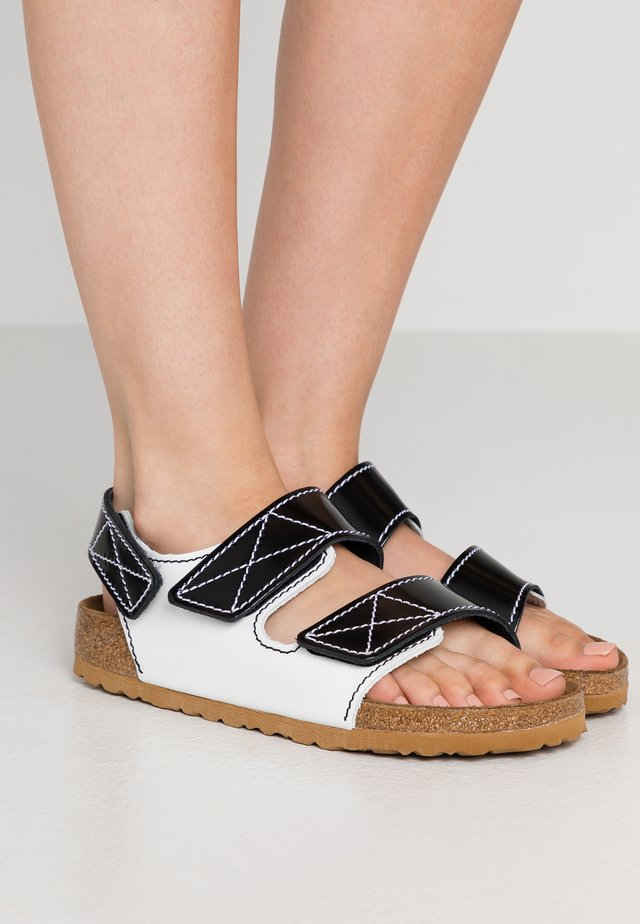 MILANO  - Sandals - black/white