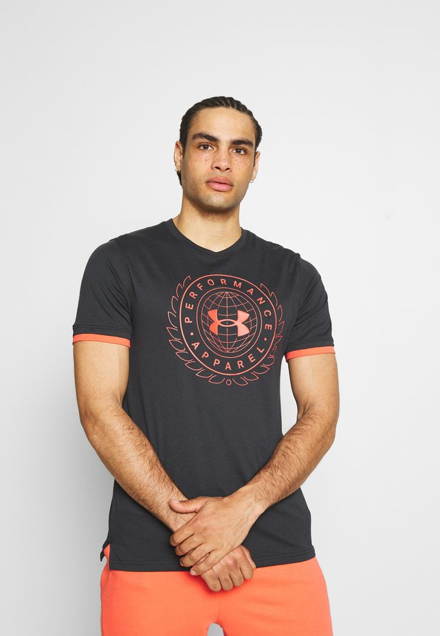 CREST  - T-shirt print - black