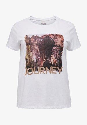 CURVY PRINT - Print T-shirt - bright white