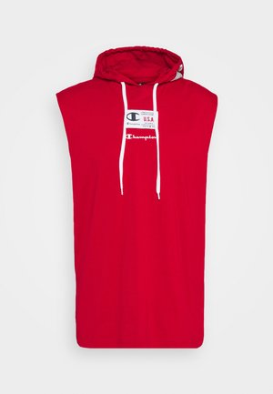 HOODED SLEEVELESS - Débardeur - red