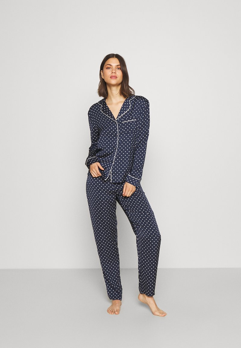 Marks & Spencer London - SPOT REVERE - Pyjama - navy