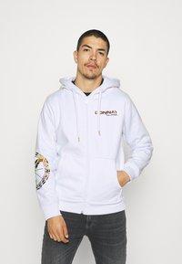 Carlo Colucci - UNISEX - Zip-up sweatshirt - white reflectiv - 0