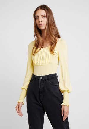 Long sleeved top - lemon