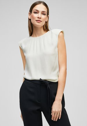 MIT RAFFUNG - Blouse - soft white