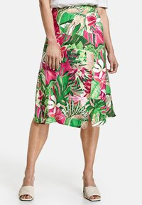 Gerry Weber - Wrap skirt - lila pink grün druck - 0