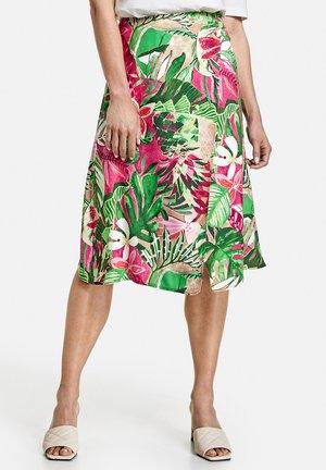 Wrap skirt - lila pink grün druck