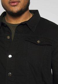 Another Influence - SLIM FIT JACKET - Denim jacket - black - 4
