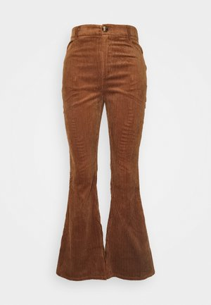 LADIES TROUSERS - Trousers - brown