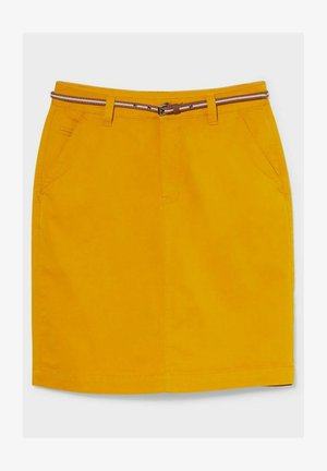 Pencil skirt - yellow