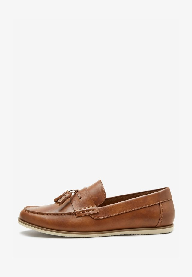 Mokasyny - mottled brown