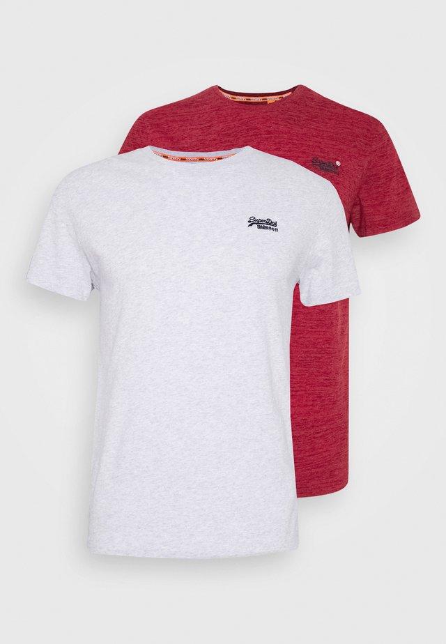 VINTAGE TEE MULTI 2 PACK - T-shirt basique - desert hint teal marl/red grit
