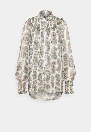 SHIRRED BLOUSE - Button-down blouse - mono
