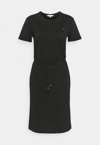 COOL SHORT DRESS - Jersey dress - black