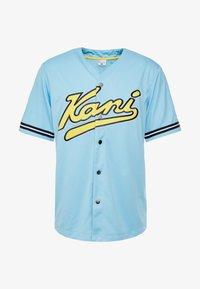 Karl Kani - COLLEGE BASEBALL  - Shirt - light blue/yellow/navy - 3