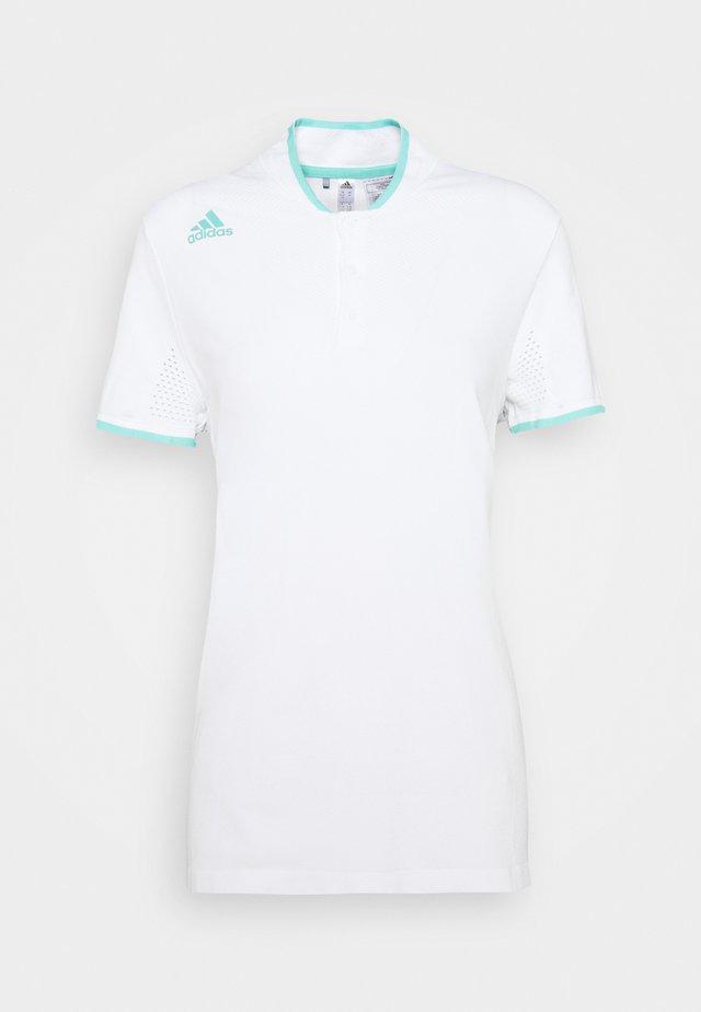 PRIMEKNIT SHORT SLEEVE - T-shirt print - white/acid mint