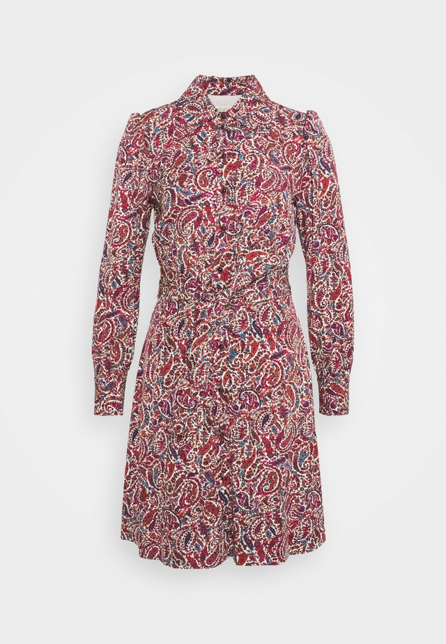 LUSH GARDEN - Shirt dress - dark ruby